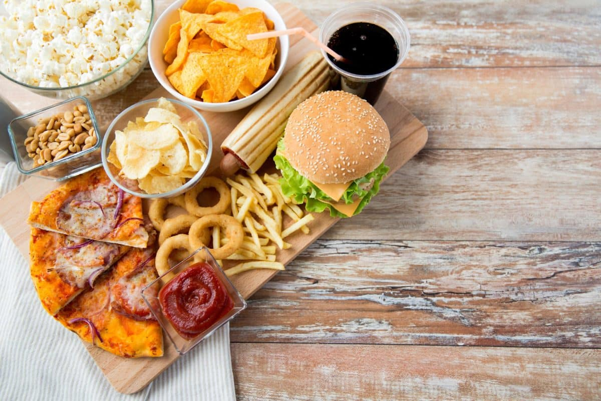 Junk food and hot flashes
